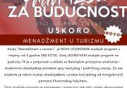 """Novi licencirani studijski program u trajanju od 3 godine: """"Menadžment u turizmu""""!!!"""